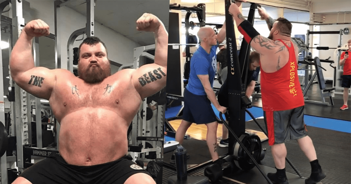Eddie Hall Sets New World Record on The Ski Erg!
