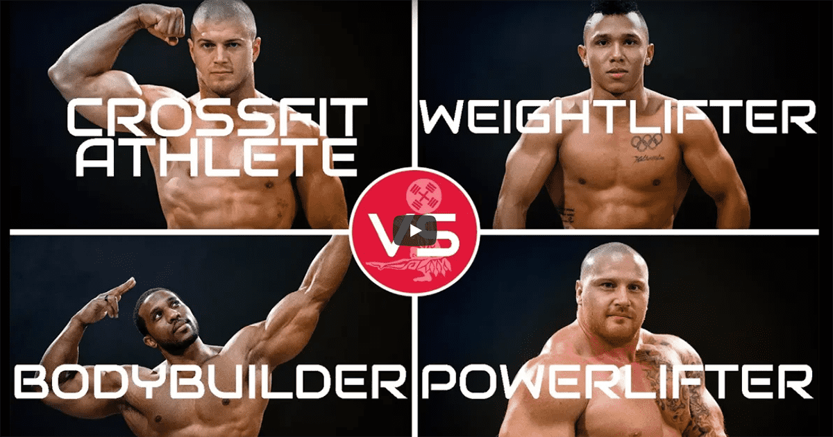 Brute Showdown 4: Crossfitter vs Weightlifter vs Bodybuilder vs Powerlifter (All the Balls)