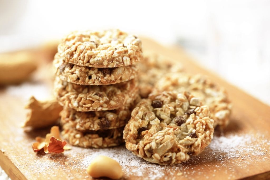 Healthy nut and seed oatmeal cookies