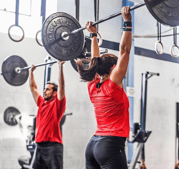 Athletes Jerk lift