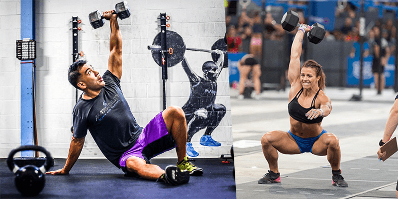 15 Tough Full Body CrossFit Dumbbell Workouts