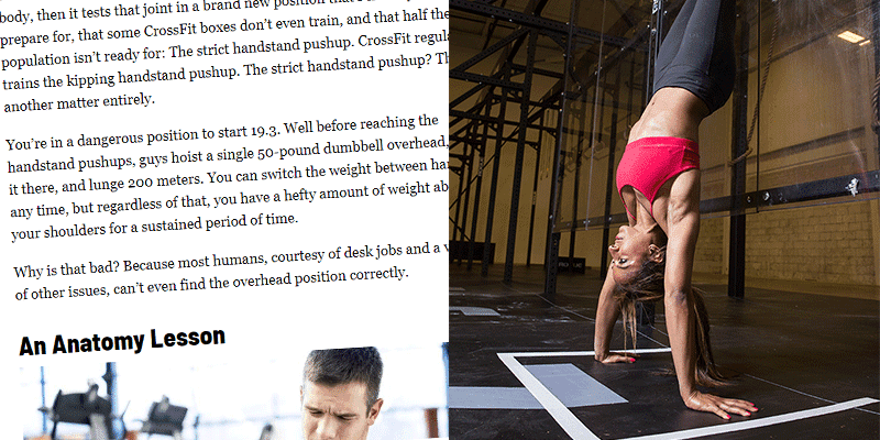 Men's Health Publish Article Attacking Open Workout 19.3