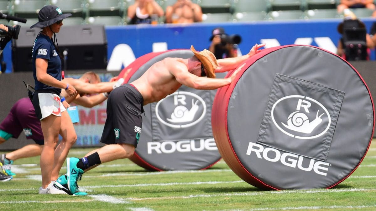 Pushing the Snail CrossFit Games 2016