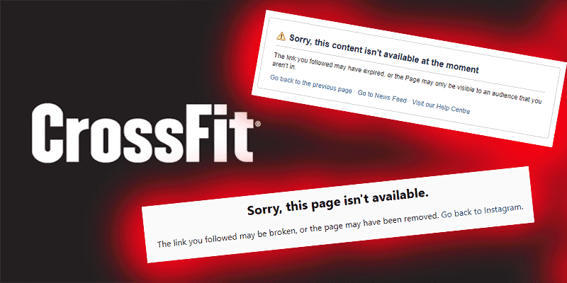 CrossFit Community Reacts to Sudden Suspension of CrossFit's Social Accounts