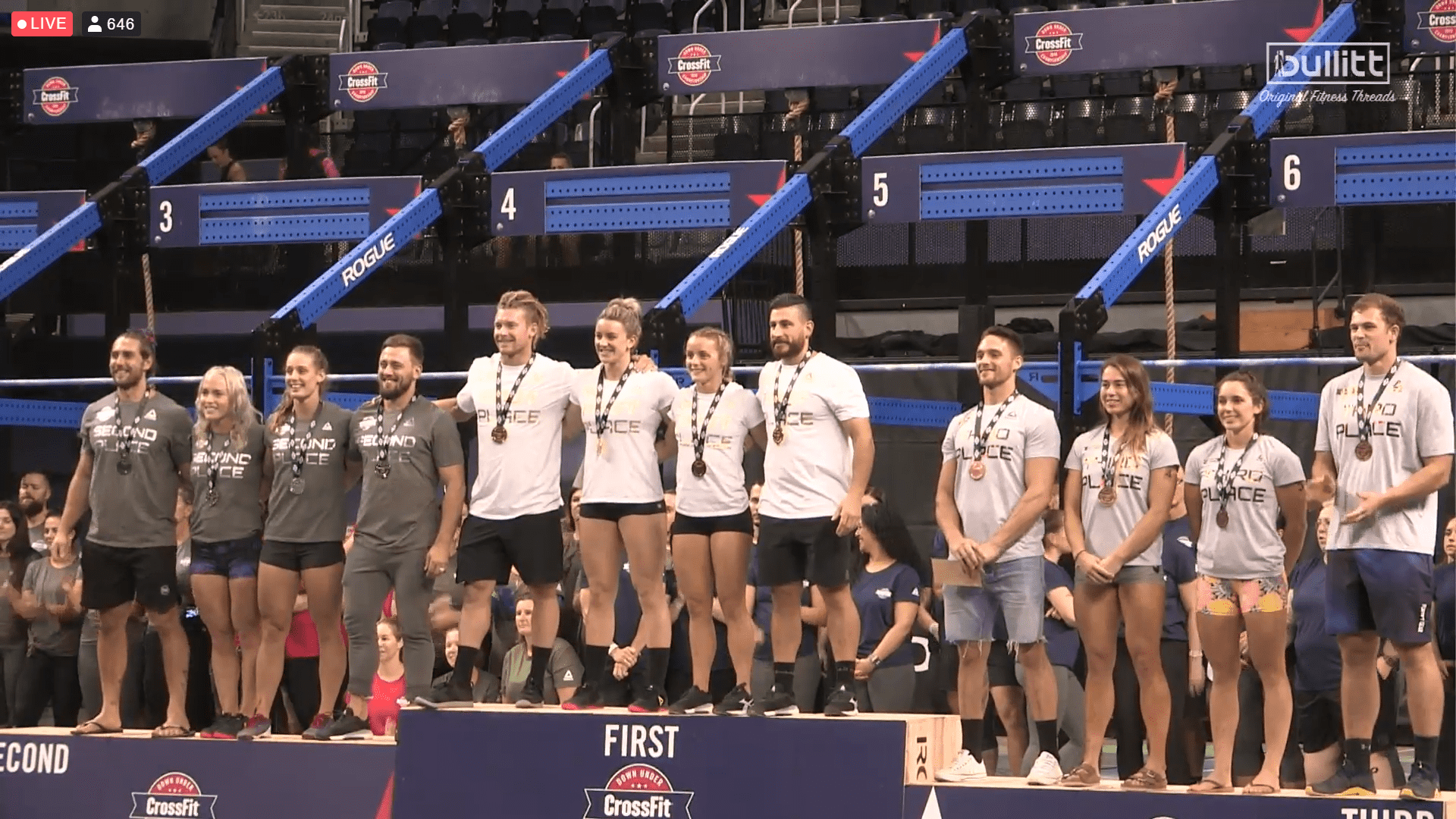 Down Under CrossFit Championship Team Podium