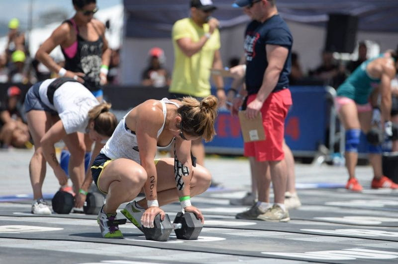 Dumbbell Shoulder Workouts at the CrossFit Games tire athletes out