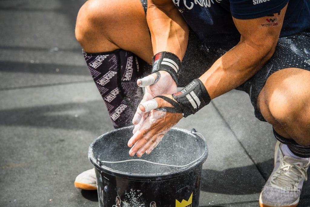 Muscle Growth chalking up athlete