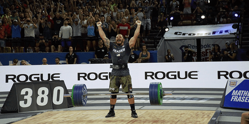 Mat Fraser Lifts 172 kg / 380 lb to WIN the Clean Event at The CrossFit Games