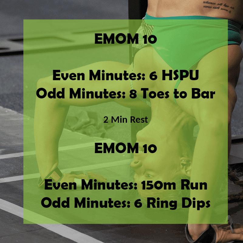 emom gymanstics crossfit workouts