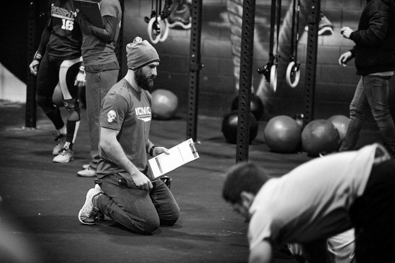 Judge at crossfit competition