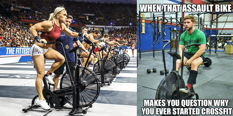 Assault Bike CrossFit Workouts that Will Destroy You!
