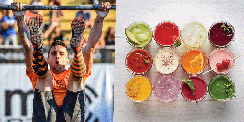 Athlete and smoothie