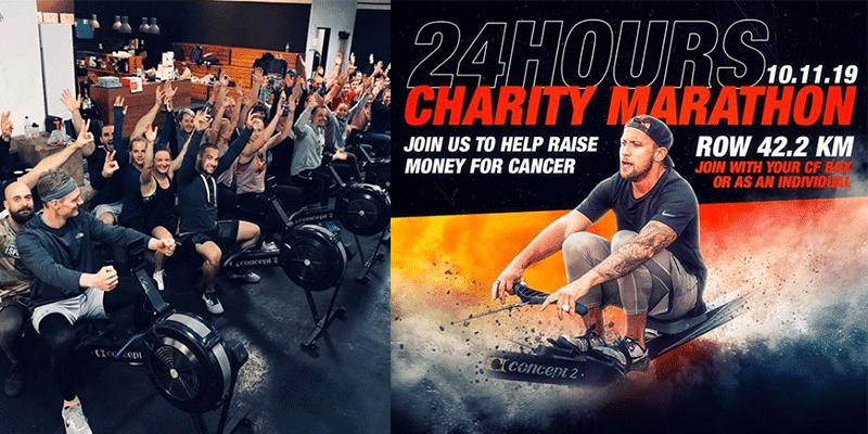 Charity Marathon Row