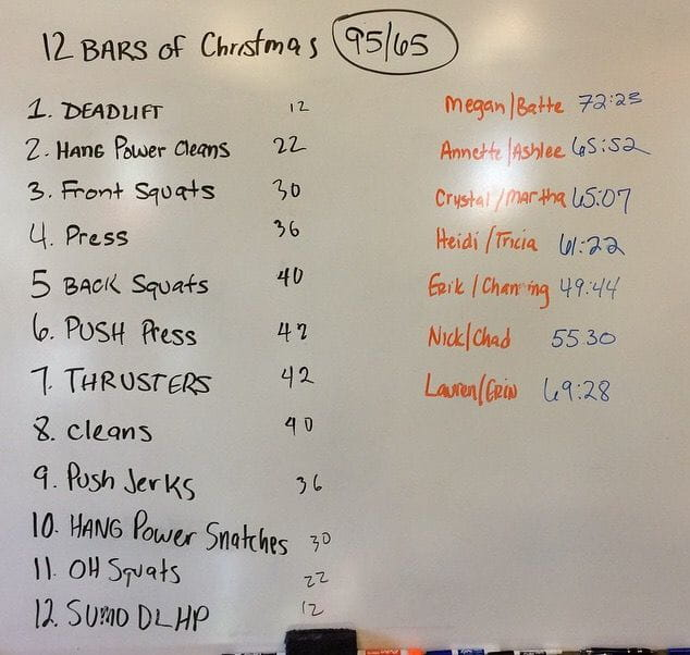 Christmas CrossFit Workouts