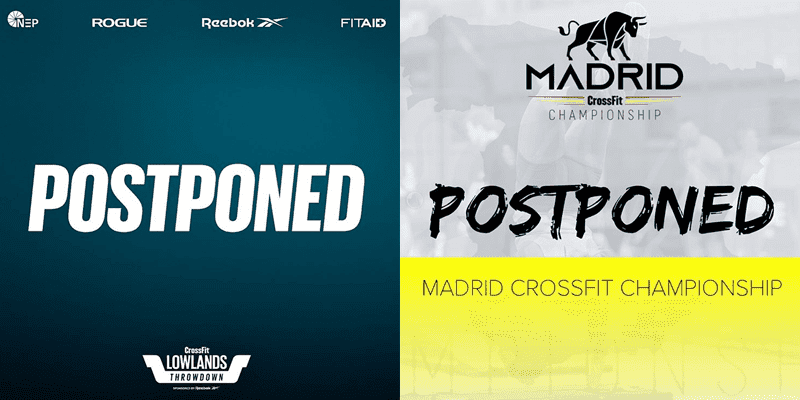 madrid crossfit postponed lowlands throwdown