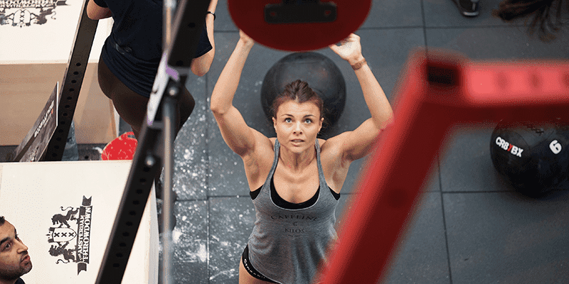 girl crossfit benchmark workouts include wall balls