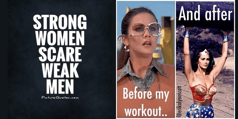 Fun Memes and Inspiring Messages for Strong Women that Love to Lift!