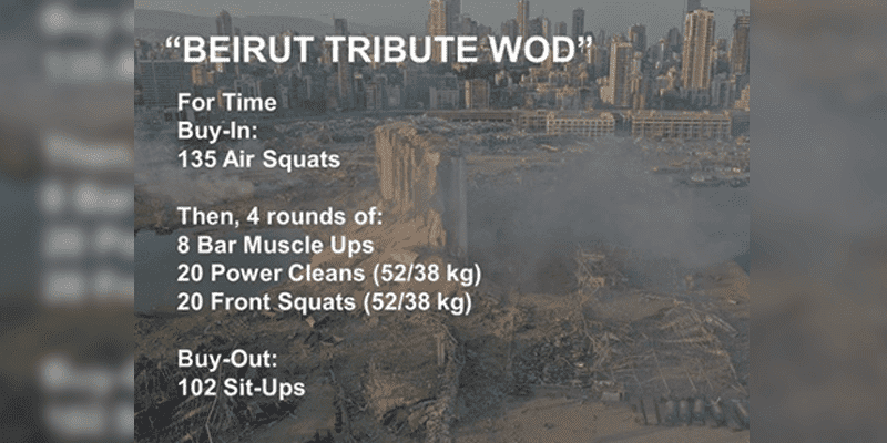 tribute workout beirut