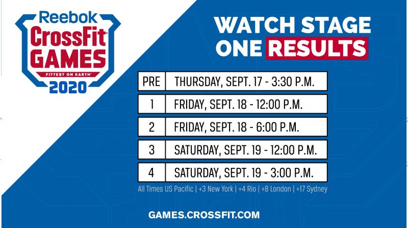 crossfit games schedule watch