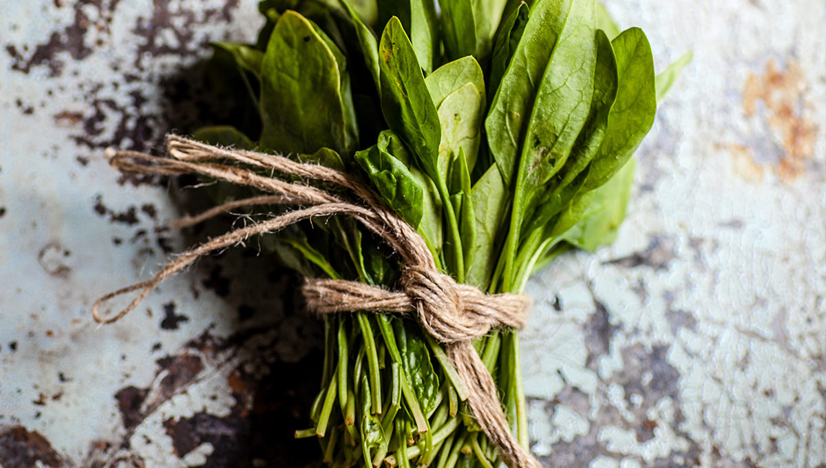 spinach is a great source to combat iron deficiency