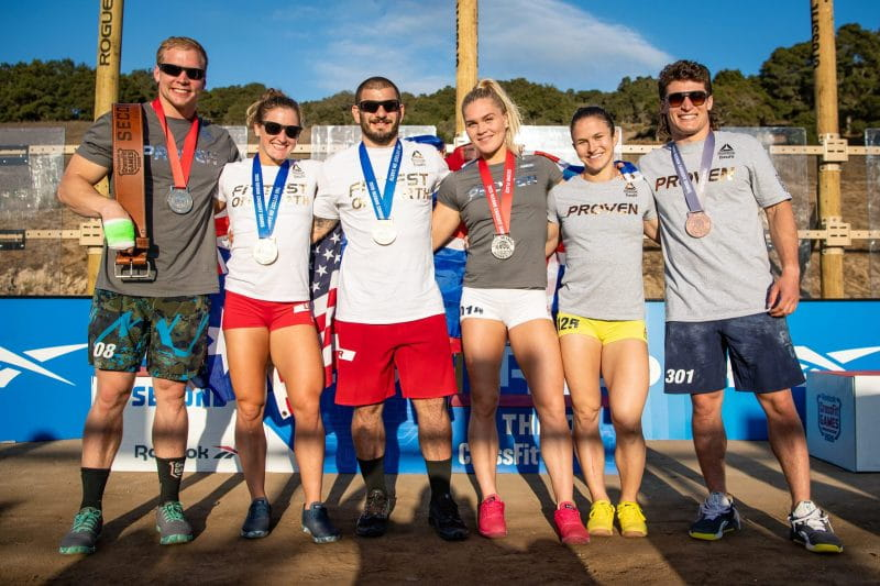 2020 crossfit games podium