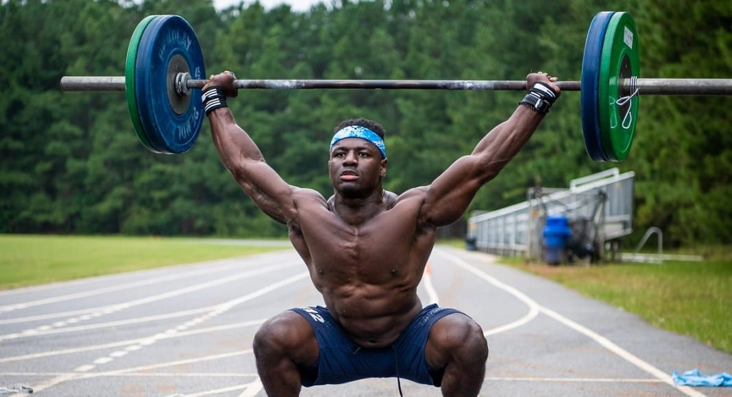 Abs Exercise Overhead Squat