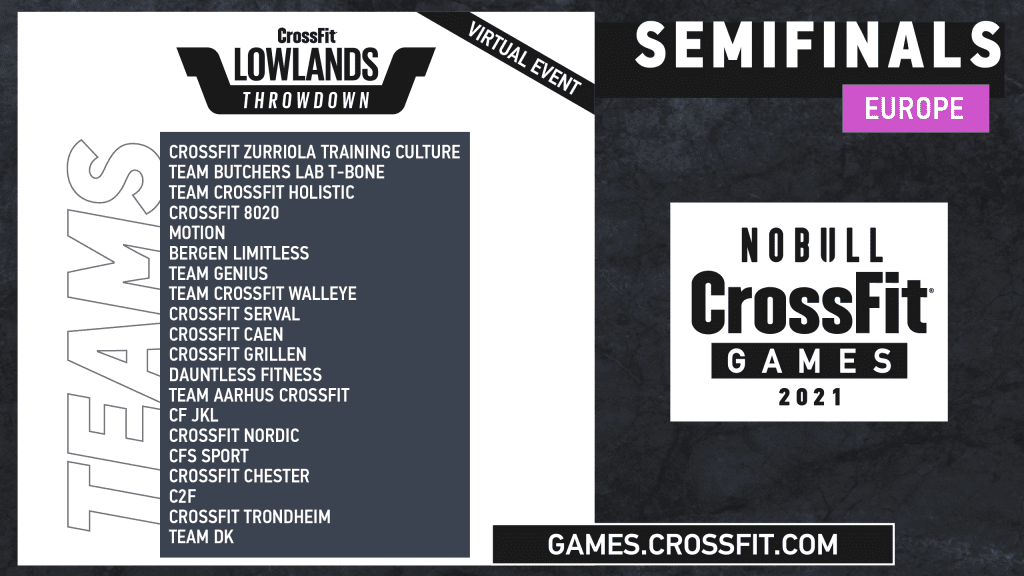 Team Semifinals Lowlands