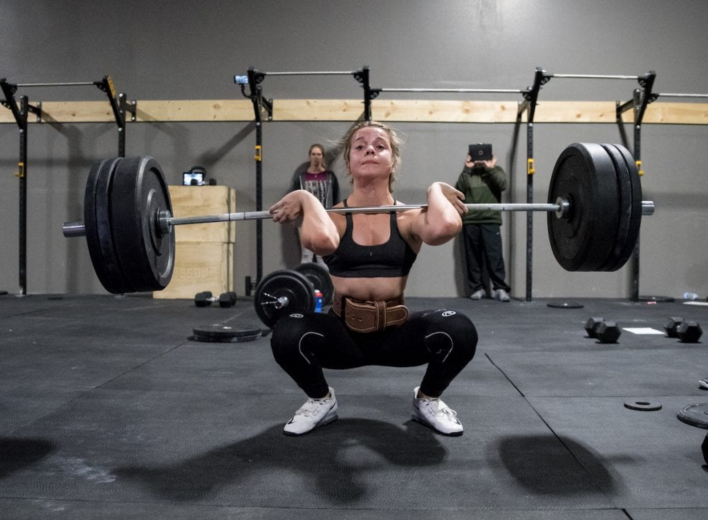 News highlight female athlete lifts personal record