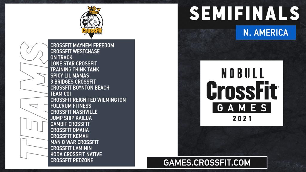 Team Semifinals Mid-Atlantic CrossFit Challenege