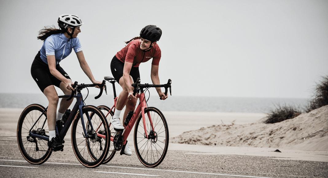 women cycling, bikes
