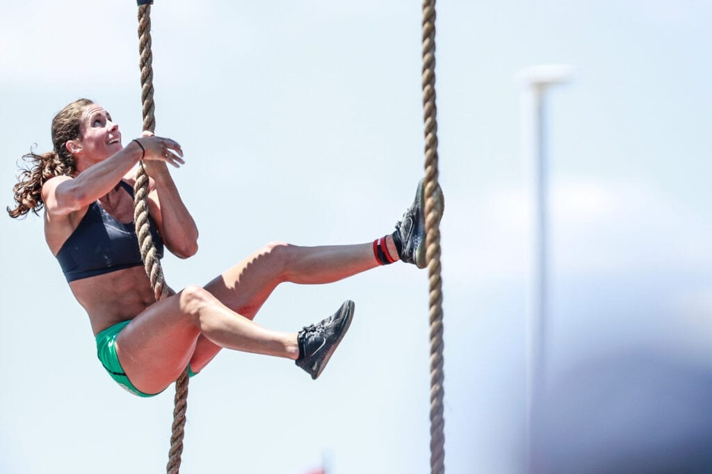 Athlete competes in the CrossFit Games, the ultimate test of fitness