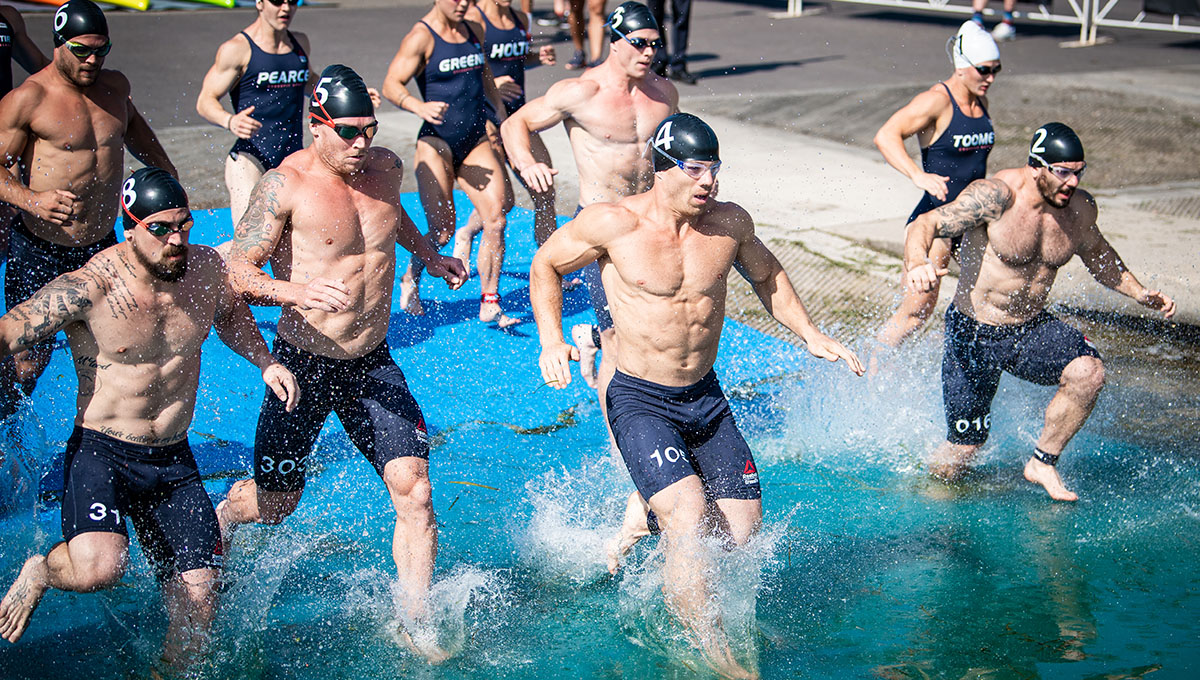 crossfit games swimming workout