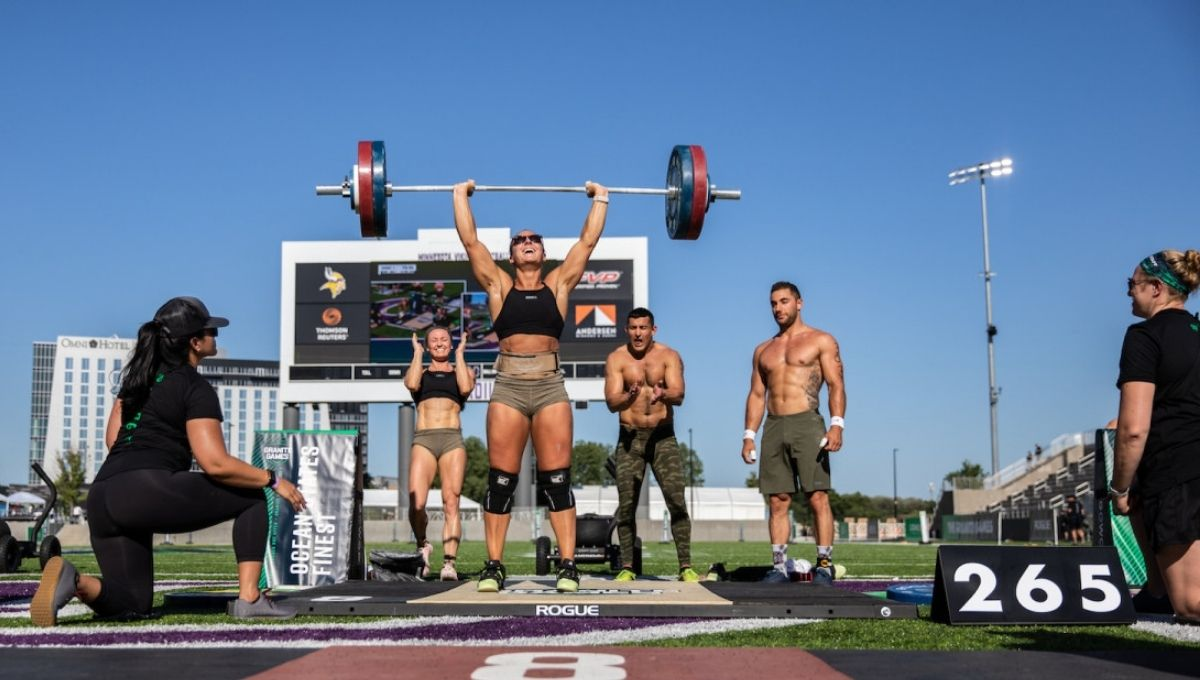 crossfit record for heaviest clean and jerk Christine middleton