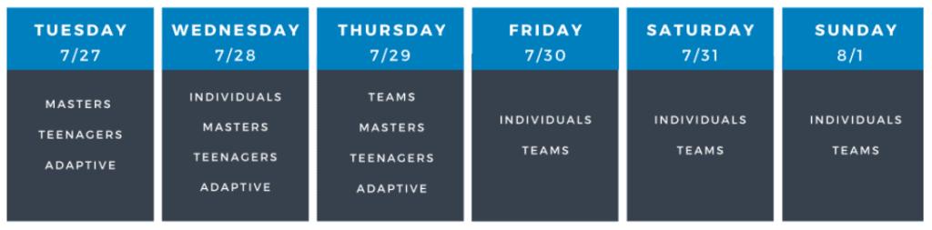 crossfit games team schedule