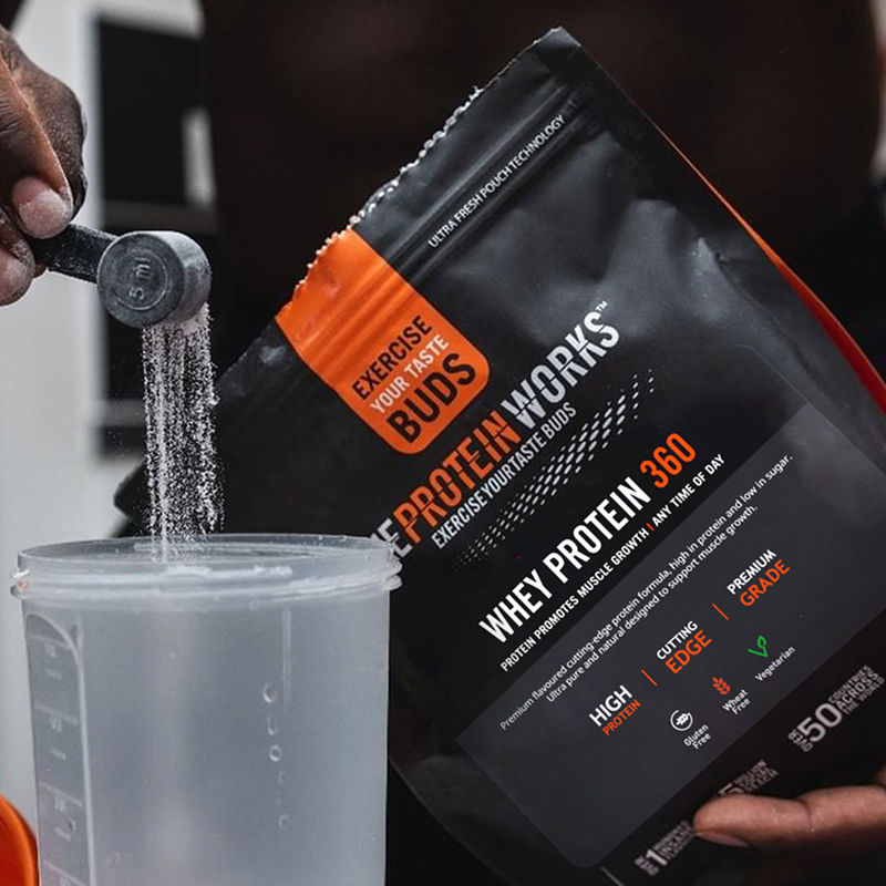 The Protein Works Powder and shaker