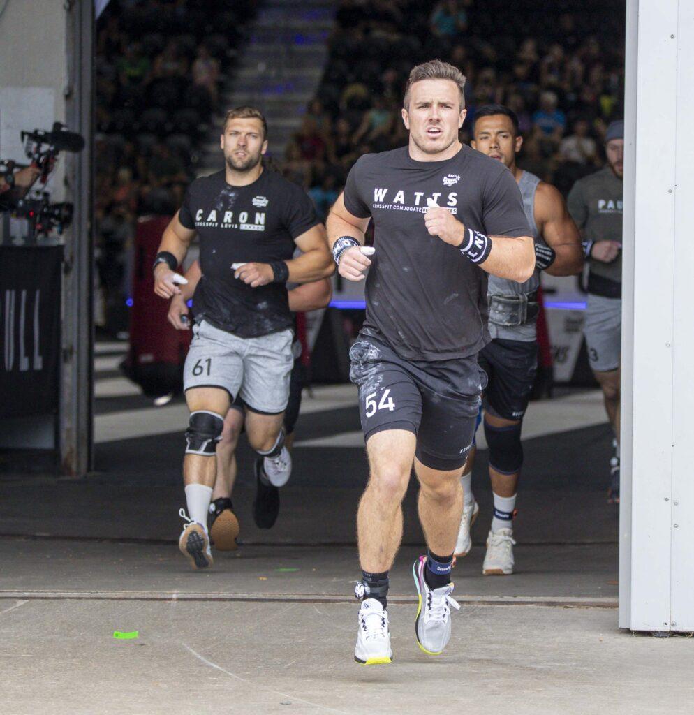 Watts and Caron running