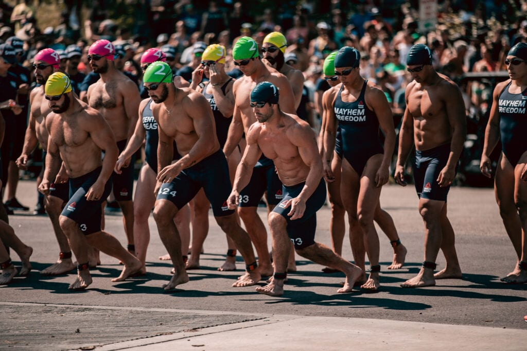 CrossFit Games team events include a swim and paddle relay