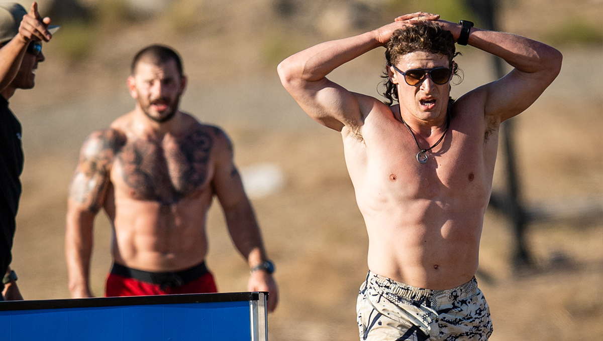 medeiros and fraser during crossfit games trail run