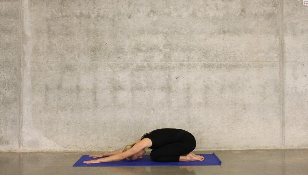 childs pose yin yoga poses