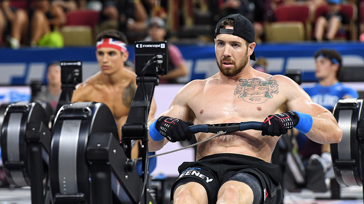 Sean Sweeny during Rowing WODs at the CrossFit Games