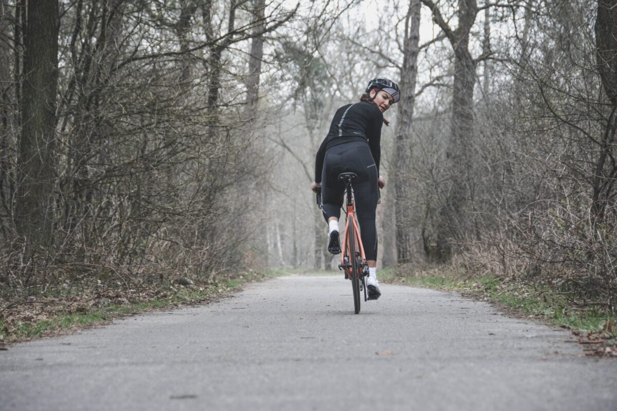 rider improves her cycling though training
