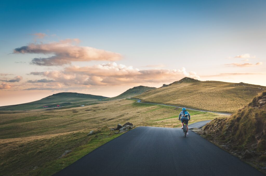 outdoor cycling with beautiful scenery