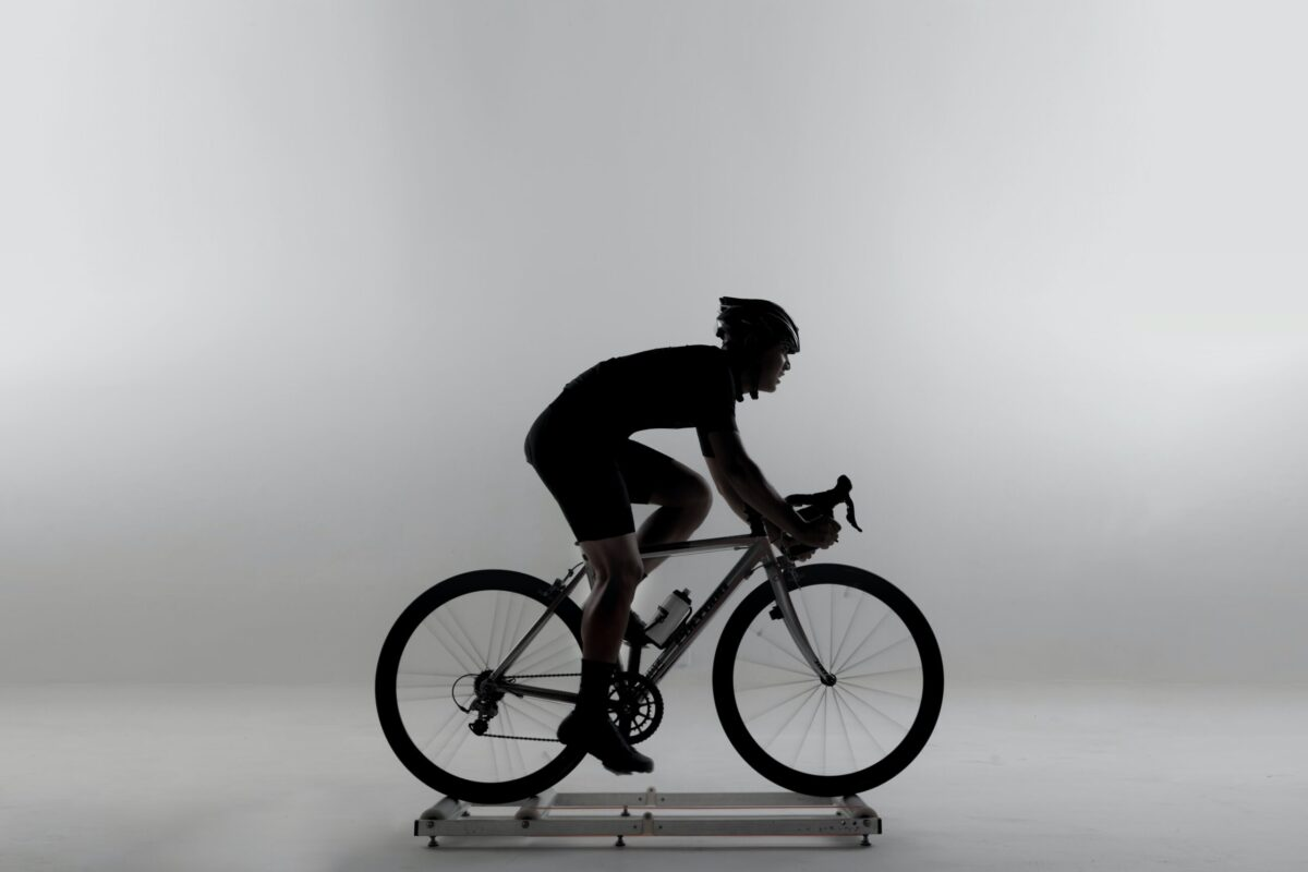 athlete does effective indoor static bike workouts