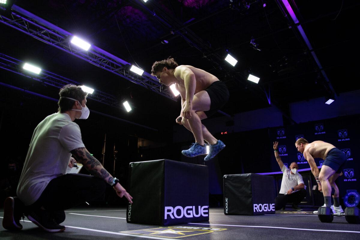 Justin Medeiros box jump during miles to madison episode 3